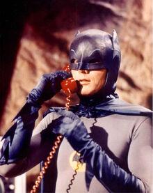 Batman using Batphone