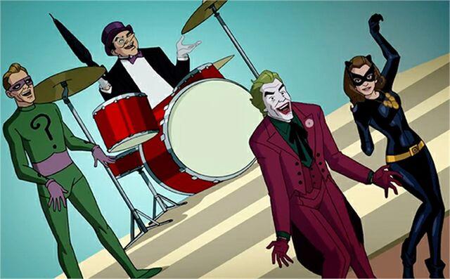 File:Joker, Penguin, Riddler and Catwoman (BROTCC).jpg