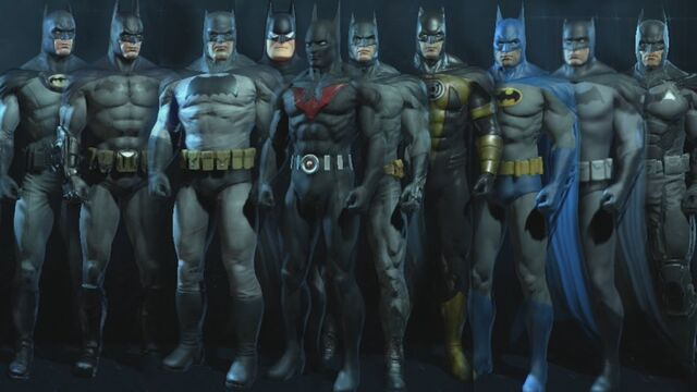 File:Arkham series-Batsuits-collection.jpg