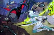 Batman beyond melee by ink4884-d3bosrw