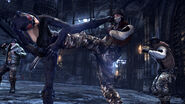 Batmanarkhamcity 199 catwoman kicking boot