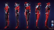 Harley Quinn Batman Arkham Knight character model