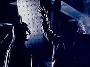 Keaton and Burton backstage 7