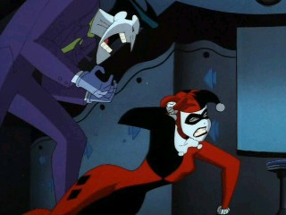 image joker yelling at harleyjpg batman the animated