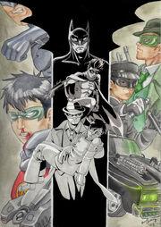 Batman vs green hornet by icefennek-d3gkmu6