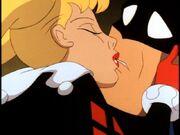 Harley's Holiday 03 - Harley kisses Batman