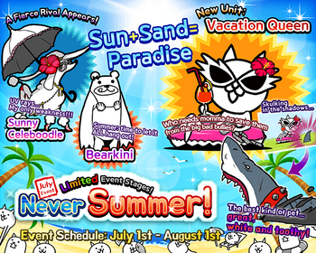 Battle Cats Summer Gals