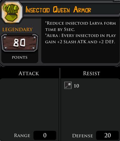 Insectoid Queen Armor profile