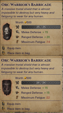 Unique Orc Shields