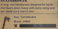 Unique Two-Handed Axe