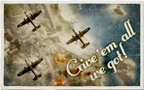 Bomb Run Postcard