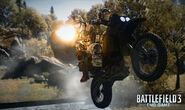 BF3 End Game Dirtbike Passenger Firing water