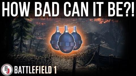 Least used Hand Grenade in Battlefield 1?