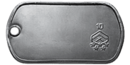 Rank 10 Dog Tag