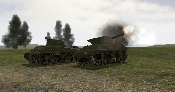 File:BF1942 WOLVERINE FIRING NEXT TO SHERMAN.png