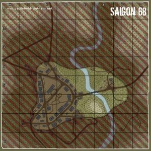 BFVN Map Saigon 1968
