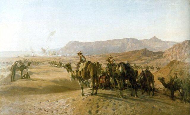 File:Camel corps at Magdhaba.jpeg