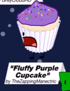 Fluffy Purple Cupcake