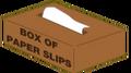Box of Paper Slips