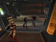 Shock troopers advance on the droids' position