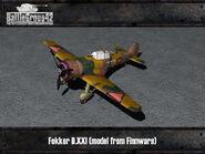 Fokker D.XXI render