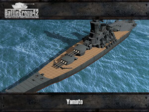 Yamato-class battleship render