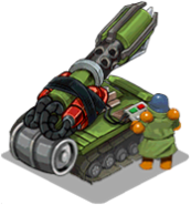 Veh artillery napalm back