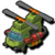 Air fire helicopter icon