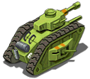 Mediumtank back green
