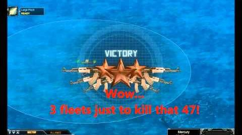 Battle Pirates - Mercury Fleet vs Drac Hunt 4