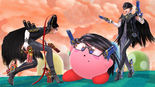 SSB4 - Bayonetta and Kirby