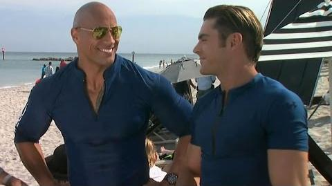 EXCLUSIVE Zac Efron and Dwayne Johnson Gush Over Each Other's Hotness on 'Baywatch' Set
