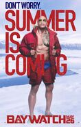 Baywatch Summer Is Coming character Mitch poster