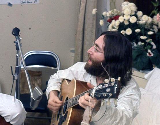 File:John rehearses Give Peace A Chance.jpg
