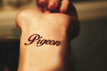 Pigeon wrist tattoo MINE