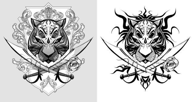 File:Tiger Pirate tattoo by biz02.jpg