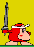 Waddle Dee's first sword