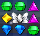 Bejeweled 3 White Butterfly