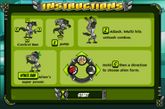 Omnitrix unleashed game instructions