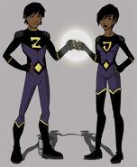 Yj wonder twins by glee chan-d4vg5ou