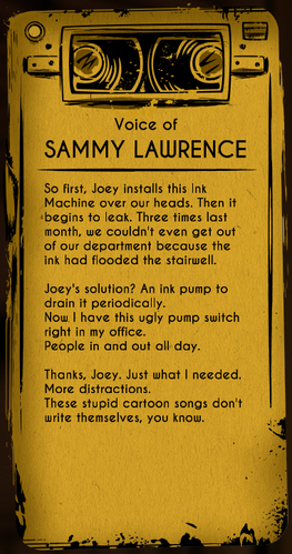 Sammy Lawrence | Bendy and the Ink Machine Wiki