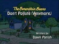 Don't Pollute Anymore