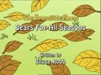 Bears for all Seasons