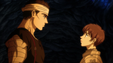 Guts and Casca tender moment