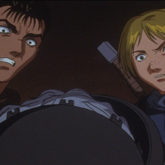 Guts and Judeau shocked at the sight of <a href=