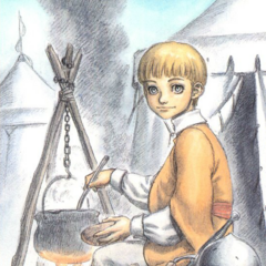 A young Rickert cooks.