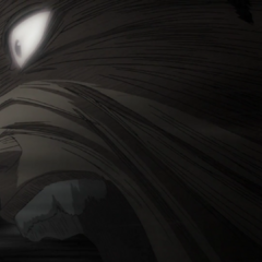 Guts, filled with blind rage, rushes towards Griffith.
