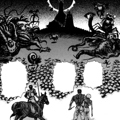 Guts and the Hawks encounter the God Hand.
