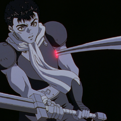 Griffith stabs Guts.