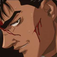 Guts with a sinister smile.
